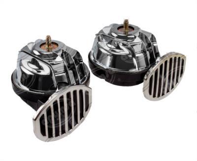 producto apymsa - BOCINA ELECTRICA 12V TIPO CARACOL CROMADA CON RELAY FIAMM OVERSTOCK CA-RE1