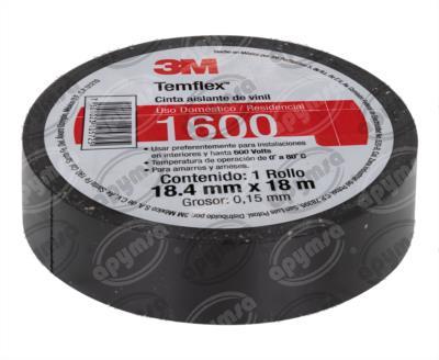 producto apymsa - CINTA AISLANTE NEGRO CINTA 3M TEMFLEX 1600 3M ME900105151