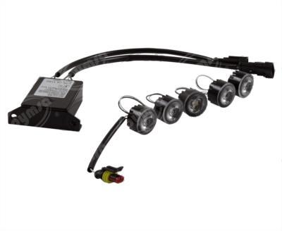 producto apymsa - LUZ DE DIA 12V - 24V 5 LEDS BLANCO FLEXIBLE HELLA 010458811