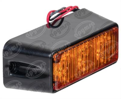 producto apymsa - PLAFON LEDS AMBAR DE EMERGENCIA 3 LEDS, 1W ESTROBO, MICA AMBAR NACIONAL PL-E203-A
