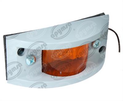 producto apymsa - PLAFON BLINDADO MICA AMBAR LATERAL 12V DE PLASTICO ATORNILLABLE PLASTICOS RECORD 948-2A