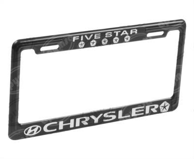 producto apymsa - PORTA PLACA AUTOMOTRIZ CHRYSLER ( FIVE STAR ) JGO EXTREME A109-E-NT