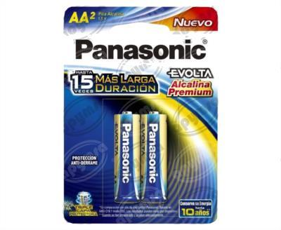 producto apymsa - PILA LITIO EVOLTA TAMAÑO AA BLISTER 2 PILAS PANASONIC LR6EGL/2B