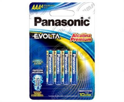 producto apymsa - PILA LITIO EVOLTA TAMAÑO AAA BLISTER 4 PILAS PANASONIC LR03EGL/4B