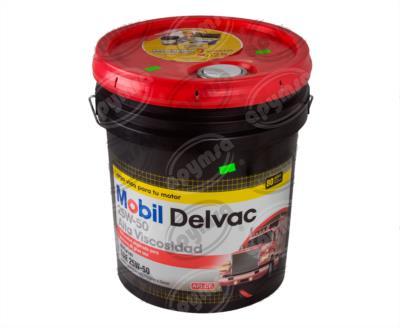 producto apymsa - LUBRICANTE ACEITE MULTIGRADO (MINERAL) 25W50. 19L DELVAC CUBETA MOBIL 25W50