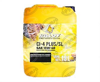 producto apymsa - LUBRICANTE ACEITE MULTIGRADO (MINERAL)  DIESEL POWER SAE 15W40 API CI-4 PLUS/SL 19 L   RALOY 8281