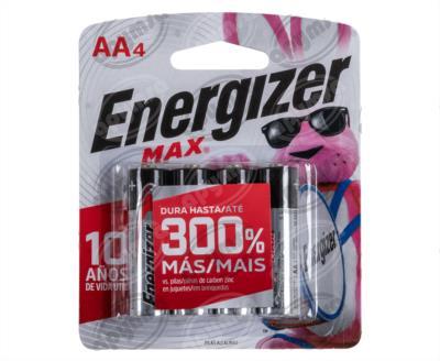 producto apymsa - PILA ALCALINA MAX AA BP4 ENERGIZER E91BP-4