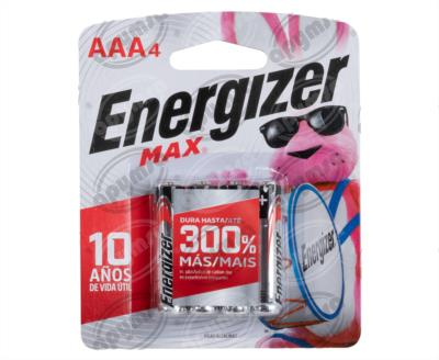 producto apymsa - PILA ALCALINA MAX AAA BP4 ENERGIZER E92BP-4