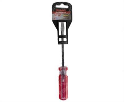 producto apymsa - DESARMADOR PLANO 1/4 X 4 BARRA CR-V MANGO PVC MIKELS DP-144