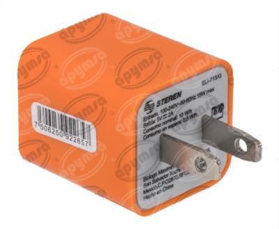 producto apymsa - CARGADOR USB DOBLE COMPATIBLE CON IPAD - IPHONE DE PARED STEREN ELI-713/G