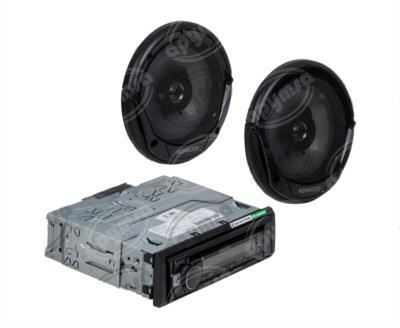 producto apymsa - AUTOESTEREO AUTOMOTRIZ MP3, AUX, USB CON BOCINAS INCLUIDAS KENWOOD KDC-MP368BT
